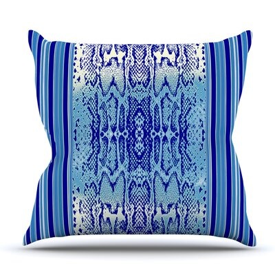 Delf Snake by Nina May Outdoor Throw Pillow