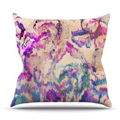 Weirdi Kat by Nikki Strange Outdoor Throw Pillow