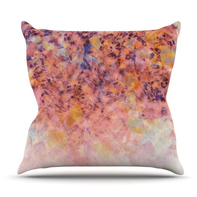 Blushed Geometric by Nikki Strange Outdoor Throw Pillow