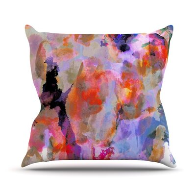Painterly Blush Outdoor Throw Pillow