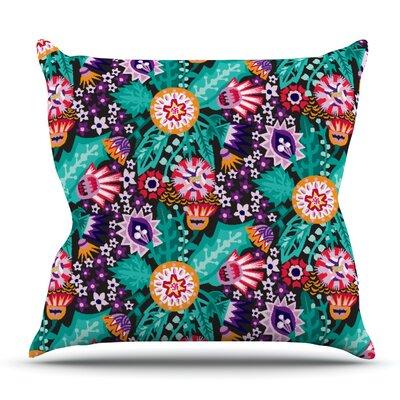 Folk Meadow by Agnes Schugardt Outdoor Throw Pillow