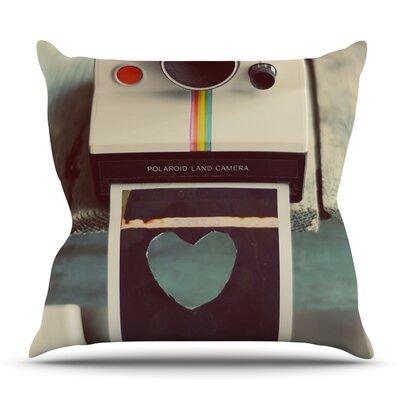 Polaroid Love by Cristina Mitchell Outdoor Throw Pillow