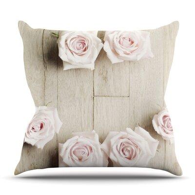 Smile by Cristina Mitchell Outdoor Throw Pillow