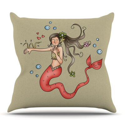 Mermaids Lovely by Carina Povarchik Outdoor Throw Pillow