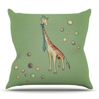 Giraffe by Carina Povarchik Outdoor Throw Pillow