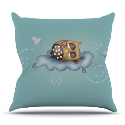 Sleepy Guardian by Carina Povarchik Outdoor Throw Pillow