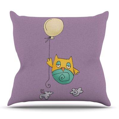 Lechuzita en Ballon by Carina Povarchik Outdoor Throw Pillow