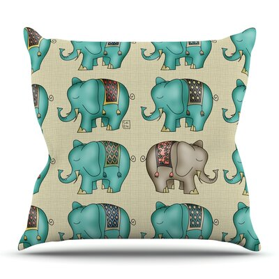 Dreamy Ellie by Carina Povarchik Outdoor Throw Pillow