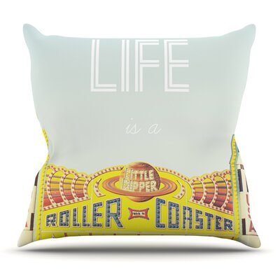 Life is a Rollercoaster by Libertad Leal Outdoor Throw Pillow