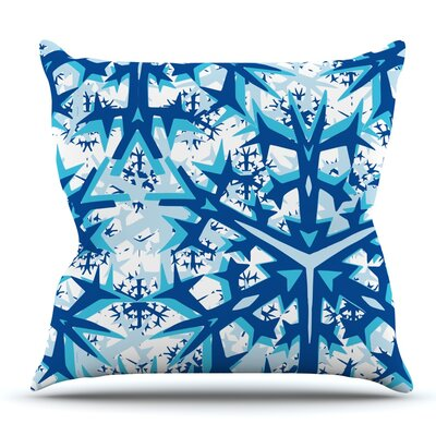 Winter Mountains by Miranda Mol Outdoor Throw Pillow