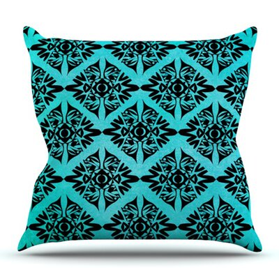 Eye Symmetry Pattern by Pom Graphic Design Outdoor Throw Pillow