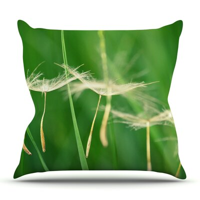 Best Wishes by Robin Dickinson Outdoor Throw Pillow