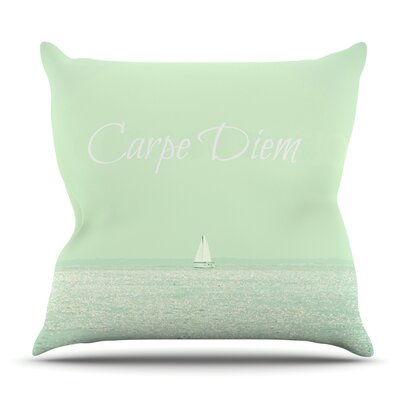 Carpe Diem by Robin Dickinson Outdoor Throw Pillow