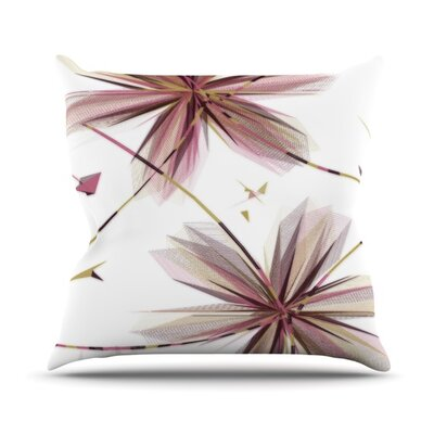 Flower Outdoor Throw Pillow Color: Teal