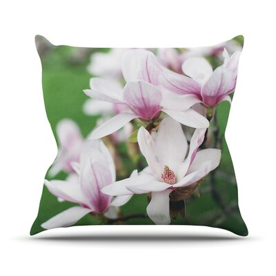 Magnolias Outdoor Throw Pillow