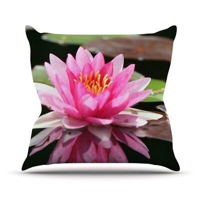 Water Lily Outdoor Throw Pillow