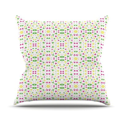 Neon Triangles Outdoor Throw Pillow