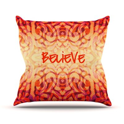 Tribal Believer Alveron Throw Pillow Size: 20 H x 20 W x 4 D