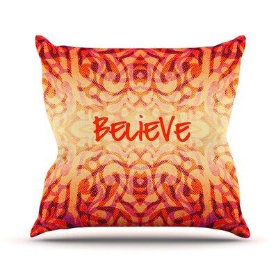 Tribal Believer Outdoor Throw Pillow