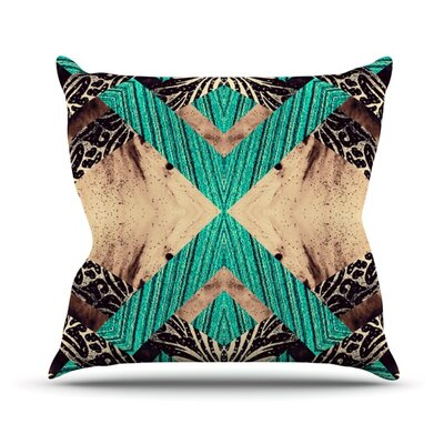 Woven Paisley Outdoor Throw Pillow