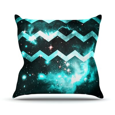 Galaxy Chevron Alveron Throw Pillow Size: 18 H x 18 W x 4 D