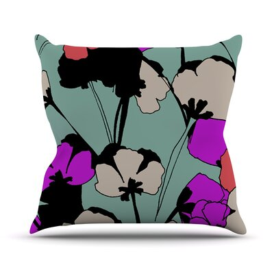 Vintage Flowers Outdoor Throw Pillow