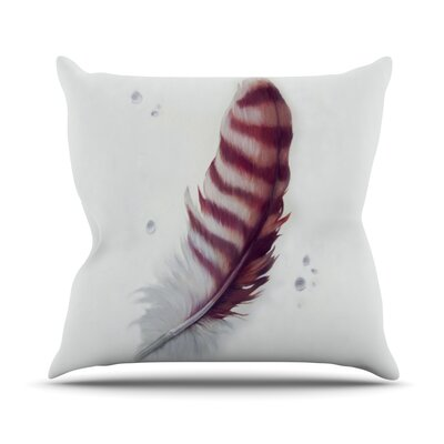 The Feather by Lydia Martin Outdoor Throw Pillow