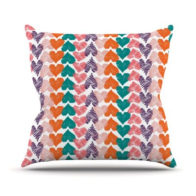Hearts by Louise Machado Outdoor Throw Pillow