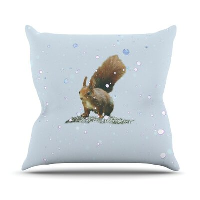 Squirrel by Monika Strigel Outdoor Throw Pillow