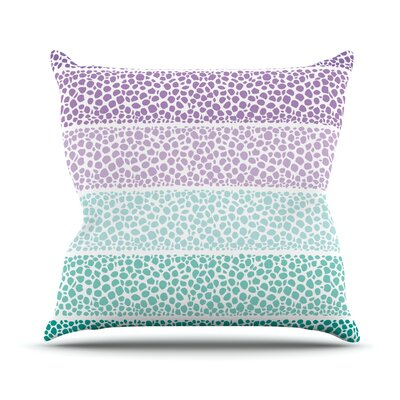 Riverside Pebbles Colored Outdoor Throw Pillow