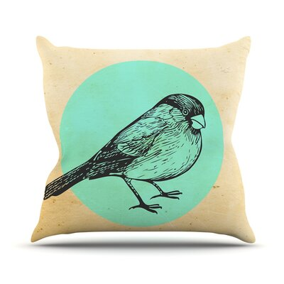 Old Paper Bird Outdoor Throw Pillow