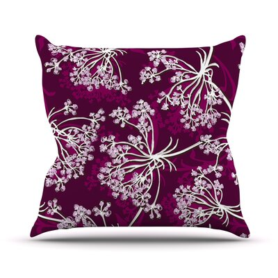 Squiggly Floral Outdoor Throw Pillow