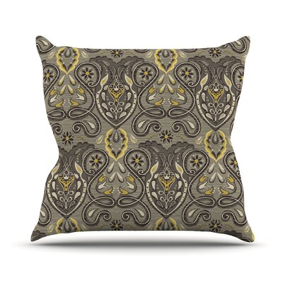 Vintage Damask Outdoor Throw Pillow