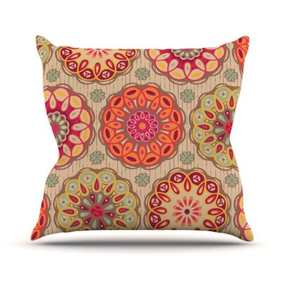 Festival Folklore by Suzie Tremel Outdoor Throw Pillow