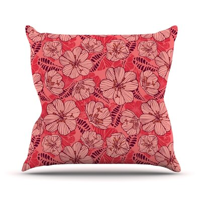 Flutter Floral Outdoor Throw Pillow
