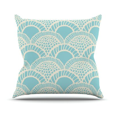Heathered Scales by Suzie Tremel Outdoor Throw Pillow