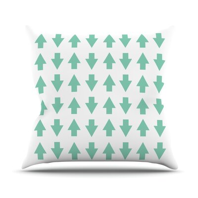 Arrows Up and Down Outdoor Throw Pillow Color: Mint