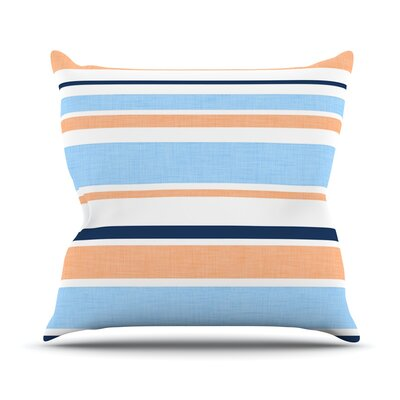 Outdoor Throw Pillow Color: Blue and Orange