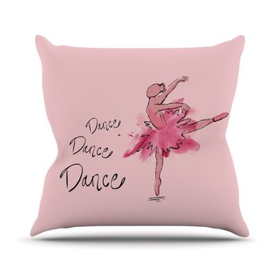 Ballerina by Brienne Jepkema Outdoor Throw Pillow