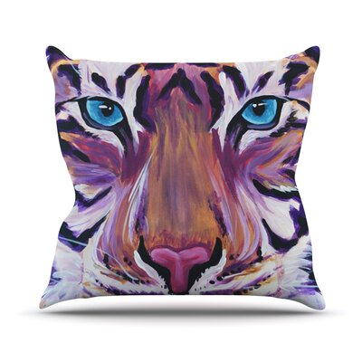 Purple Tiger Outdoor Throw Pillow