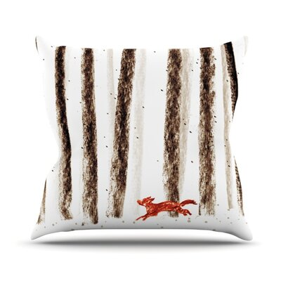 Run and Roam by Budi Kwan Outdoor Throw Pillow