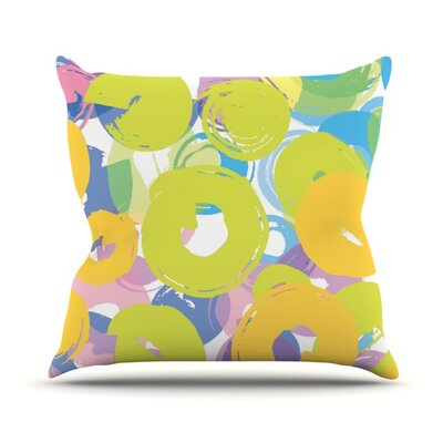 Circle Me by Emine Ortega Outdoor Throw Pillow