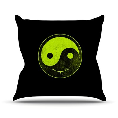 Ying Yang Outdoor Throw Pillow