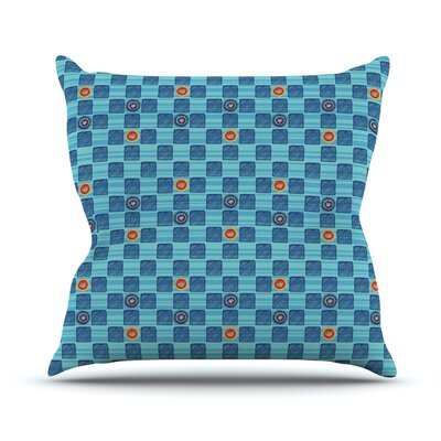 Vintage Checkerboard by Jane Smith Outdoor Throw Pillow