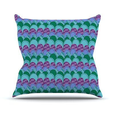 Woodland Waves by Jane Smith Outdoor Throw Pillow