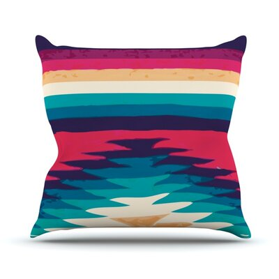 Surf by Nika Martinez Outdoor Throw Pillow
