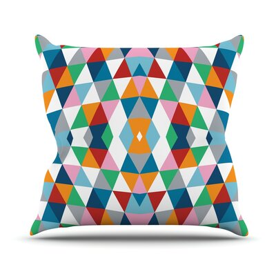 Outdoor Throw Pillow Color: Black
