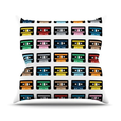 Rainbow Tapes Outdoor Throw Pillow