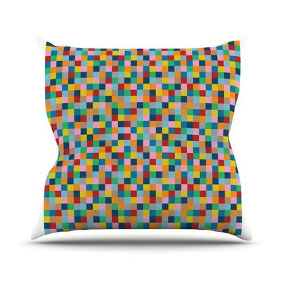 Color Blocks Outdoor Throw Pillow