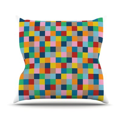 Colour Blocks Zoom by Project M Outdoor Throw Pillow